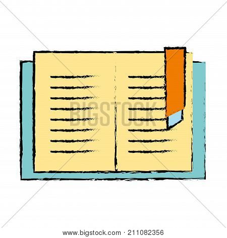 education book object to learn and study vector illustration