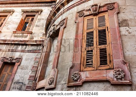 JERUSALEM, ISRAEL - NOVEMBER 2011: Beautriful windows of building of the church of Alexander Nevsky in the old city
