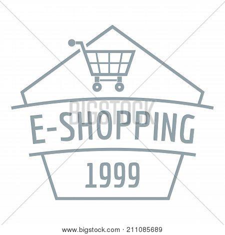 E shopping logo. Simple illustration of e shopping vector logo for web