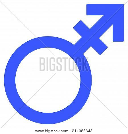 Alternate Gender Symbol flat vector pictograph. An isolated icon on a white background.