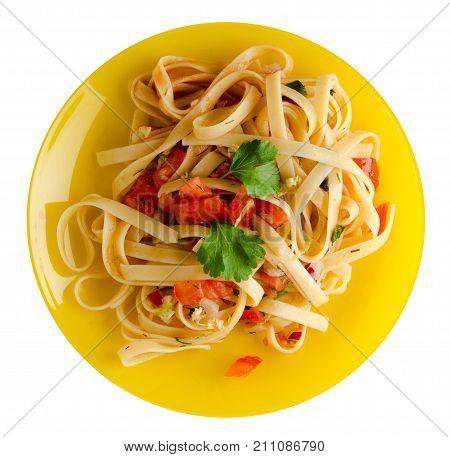 Spaghetti On A Plate.