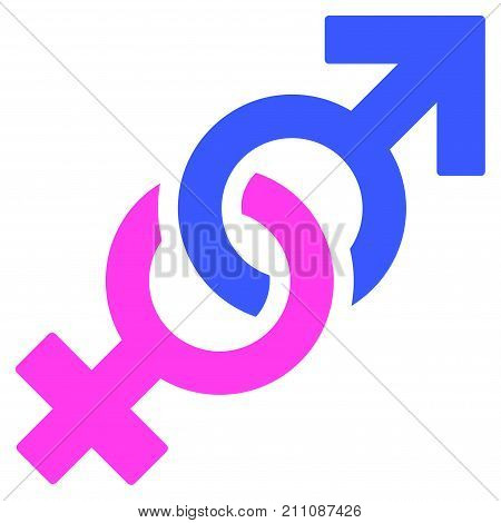 Gender Confrontation Symbol flat vector illustration. An isolated icon on a white background.