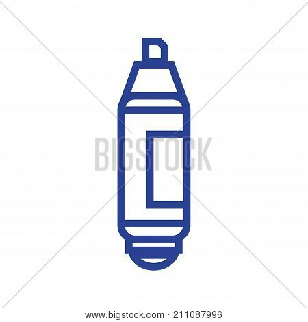 line highlighter pen design to important document information vector illustration