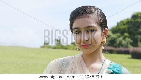 Pakistani woman with traditional costume