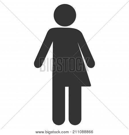 Third Gender flat vector pictogram. An isolated icon on a white background.