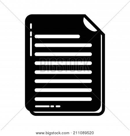 contour business document information to corporate informtion vector illustration