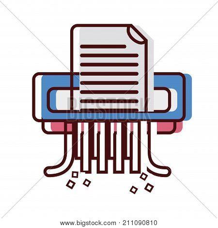 office paper shredder machine design vector illustration