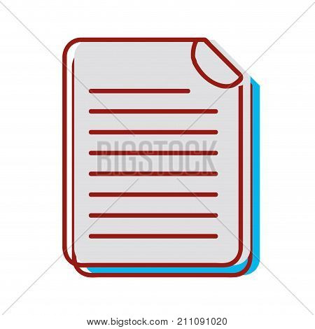 business document information to corporate informtion vector illustration