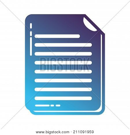 silhouette business document information to corporate informtion vector illustration