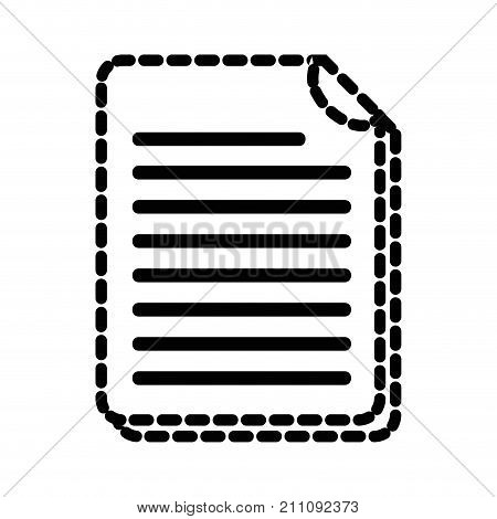 dotted shape business document information to corporate informtion vector illustration
