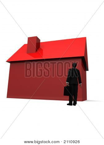 Man And House