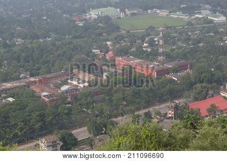 Top view of Guwahati city Assam North East India
