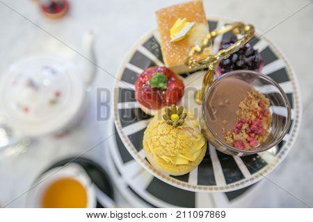 Afternoon tea set, high tea set with dessert