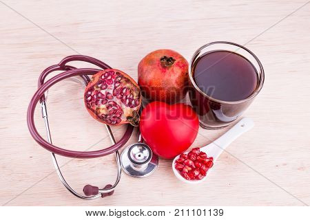 Organic Pomegranate Juice With High Anti-oxidant Good For Health