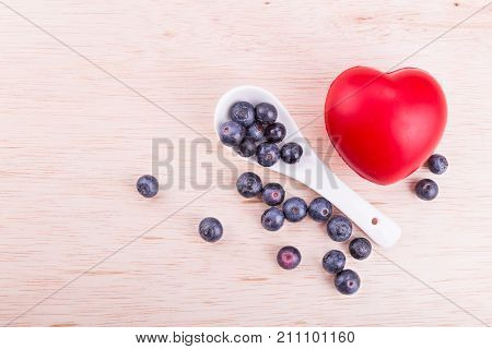 Blueberries Rich In Anti-oxidants And Flavonoid Anthocyanin Has Health Benefits.