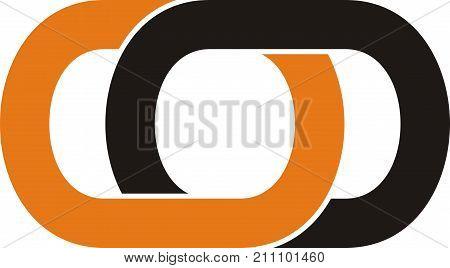 rectangular cut into pieces to overlap into the company logo design, art, creative, bold lines...
