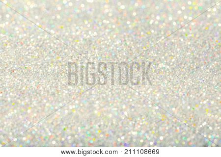Sparkles Light Background De Focused Sparkling Silver Dust Bokeh