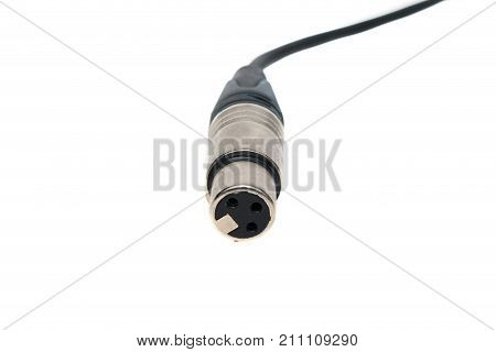 Female Xlr Cable On Isolated White Background