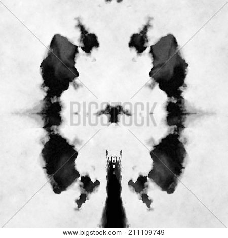 Illustration of a typical black and white Rorschach test