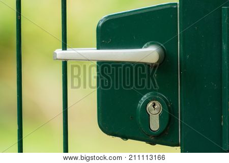 Lock and latch of a gated door
