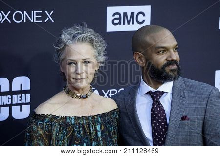 LOS ANGELES - OCT 22:  Melissa McBride, Khary Peyton at the