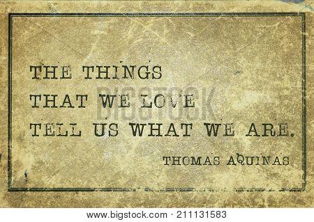 Things We Love Aquinas