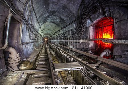 Subway Tunnel. Kiev, Ukraine. Kyiv, Ukraine