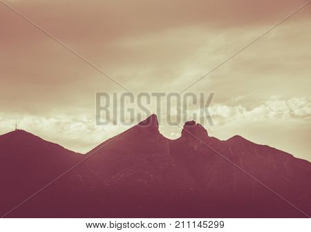 Famous Mountain In Monterrey Mexico Called Cerro De La Silla