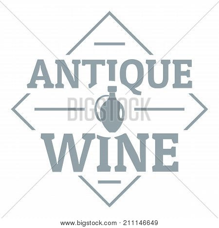 Antique wine logo. Simple illustration of antique wine vector logo for web