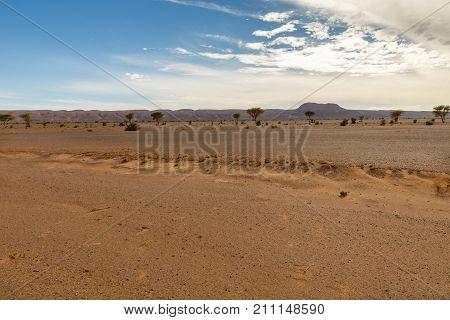 beautiful Moroccan landscape Sahara desert, desert landscape