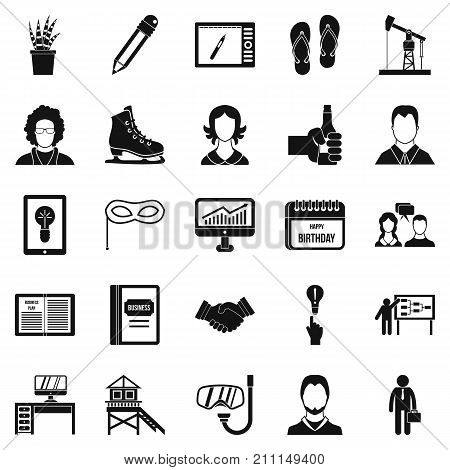 Joint biz icons set. Simple set of 25 joint biz vector icons for web isolated on white background