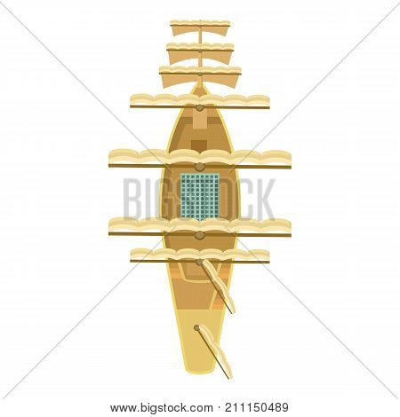 Sailboat icon. Cartoon illustration of sailboat vector icon for web