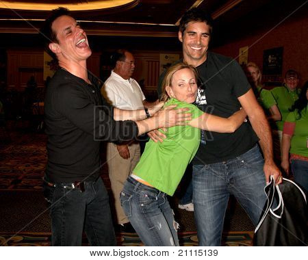 LAS VEGAS - JUN 18:  Christian LeBlanc, Marlee Matlin, Galen Gering  at the Starkey Foundation Event  for Children's Miracle Nework & Daytime Emmys at Hilton Hotel on June 18, 2010 in Las Vegas, NV