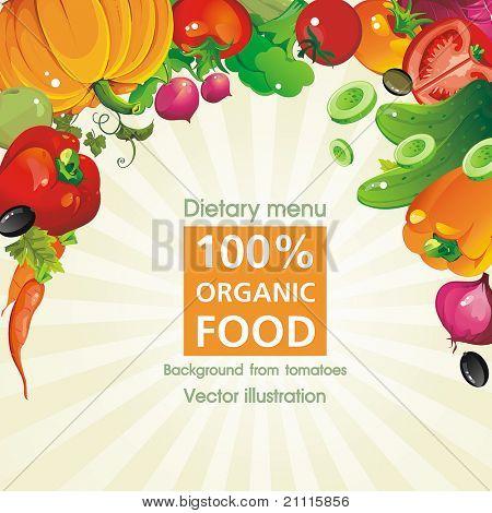 Abstract Elegance seamless food background, Vegetable vector illustration