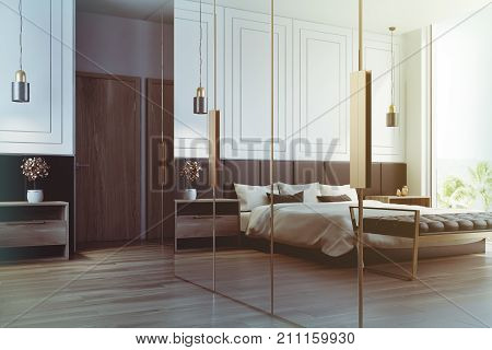 White Bedroom Interior Reflection Toned