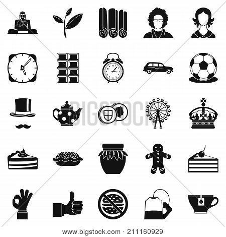 Char icons set. Simple set of 25 char vector icons for web isolated on white background