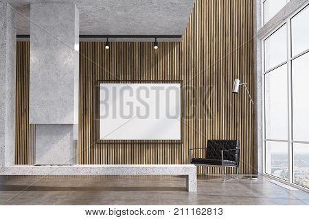 Wooden Living Room, Tv Set, Fireplace