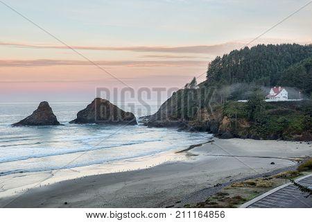 Parrot Rock, Pinnacle Rock and Heceta Head Lighthouse, Oregon