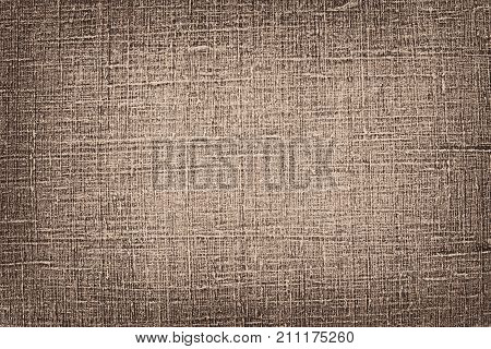 Natural brown linen material texture abstract background