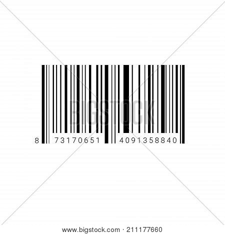 Sample Bar Code For Scanning Icon Vector Illustration