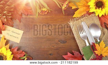 Thanksgiving Theme Framed Background.