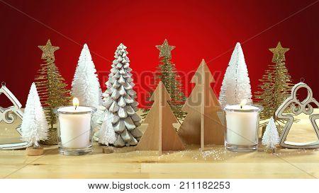 Christmas Trees Centerpiece