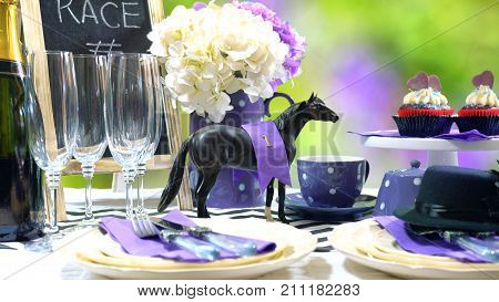 Horse Racing Racing Day Luncheon Table Setting