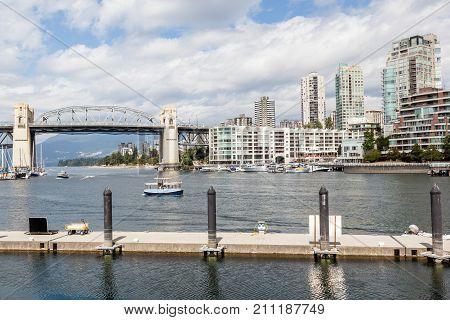 Burrard Bridge Over False Creek In Vancouver