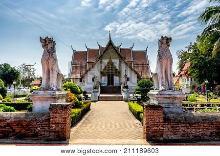 Wat Phumin temple Nan Province Thailand. Temple is a public place.Created over 100 years old.
