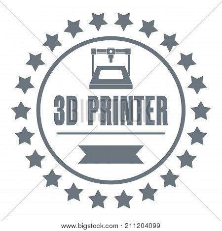 Prototype 3d printing logo. Simple illustration of prototype 3d printing vector logo for web