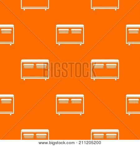 Home equipment for heating pattern repeat seamless in orange color for any design. Vector geometric illustration