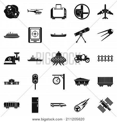 Advanced technology icons set. Simple set of 25 advanced technology vector icons for web isolated on white background