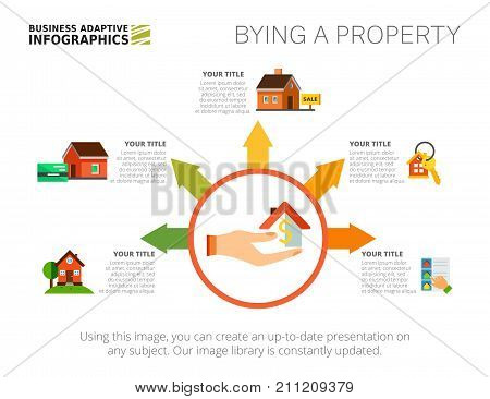 Step diagram chart template. House metaphor, option graph, layout. Creative concept for infographics, presentation, project, report. Can be used for topics like realty, investment, housing.
