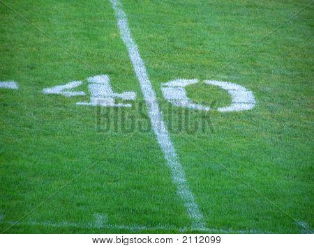 Línea de la yarda 40 de fútbol